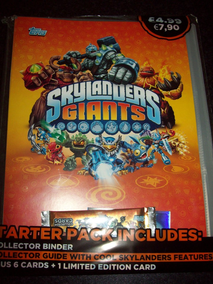 Topps Skylanders Giants Trading Cards Starter Pack/Binder