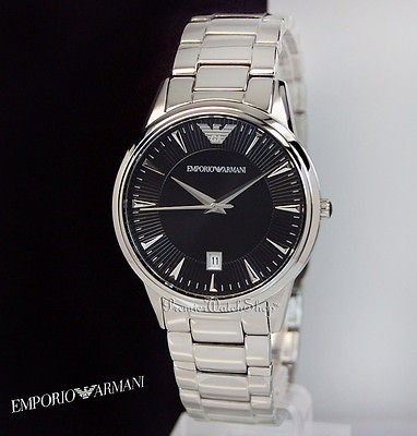 Emporio Armani Classic Mens Stainless Steel Quartz Watch AR0182
