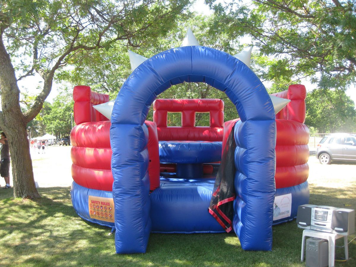 quality 18oz PVC Lighty Used Gladiator Arena Inflatable Bounce house
