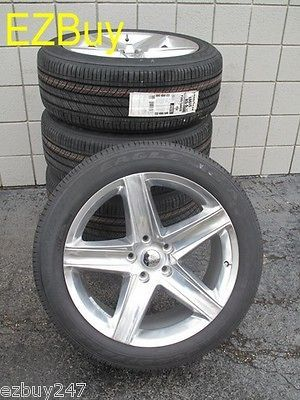 20 JEEP GRAND CHEROKEE SRT 8 STYLE POLISHED SET OF FOUR WHEELS TIRES