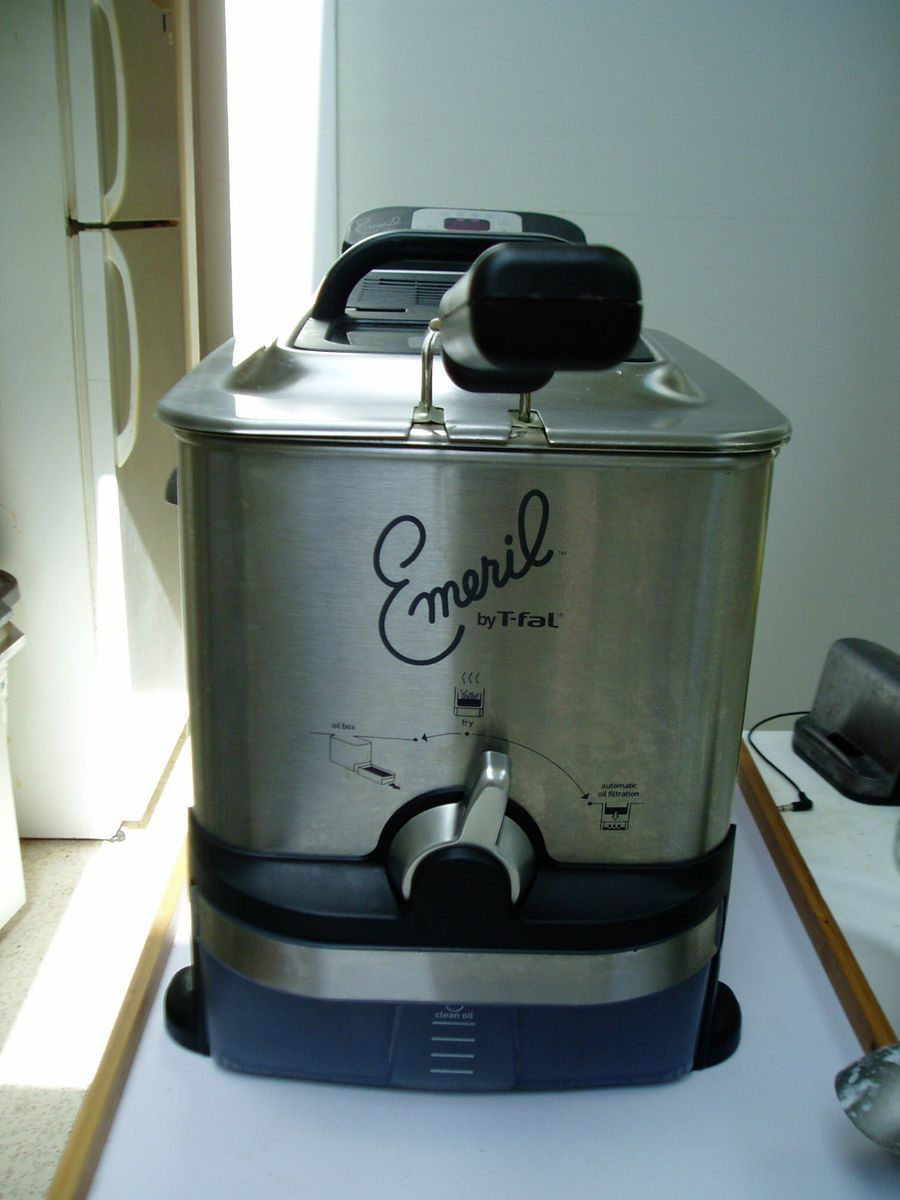 AUTOMATIC FILTER EMERIL DEEP FRYER 1700W STAINLESS STEEL POT