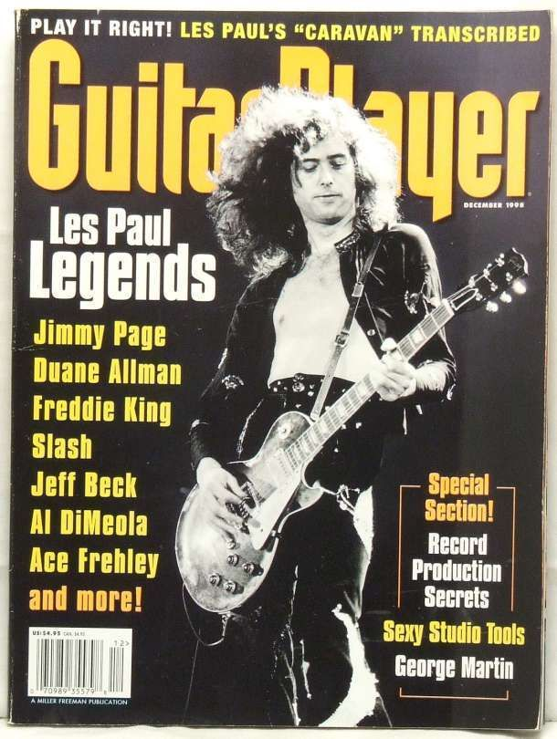 Guitar Player Magazine Jimmy Page Duane Allman Freddie King Slash Jeff