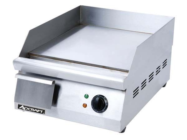 16 Commercial Electric Griddle 120V Adcraft Grid 16