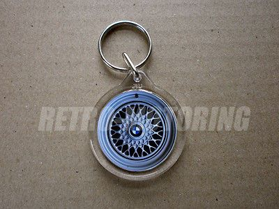 BMW BBS Alloy Wheel Retro Classic Car keyring keychain M3 M5 E30