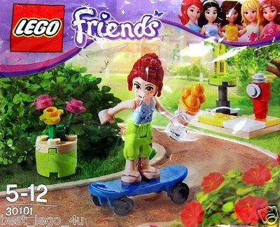 New LEGO Friends Mia On Skateboard 30101 Polybag Sealed