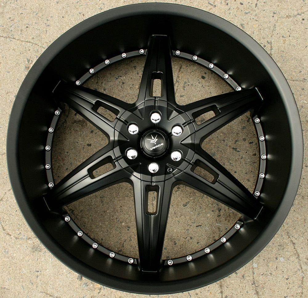 Verde Allusion 24 Semi Black Rims Wheels Dodge Charger AWD 24 x 9 5