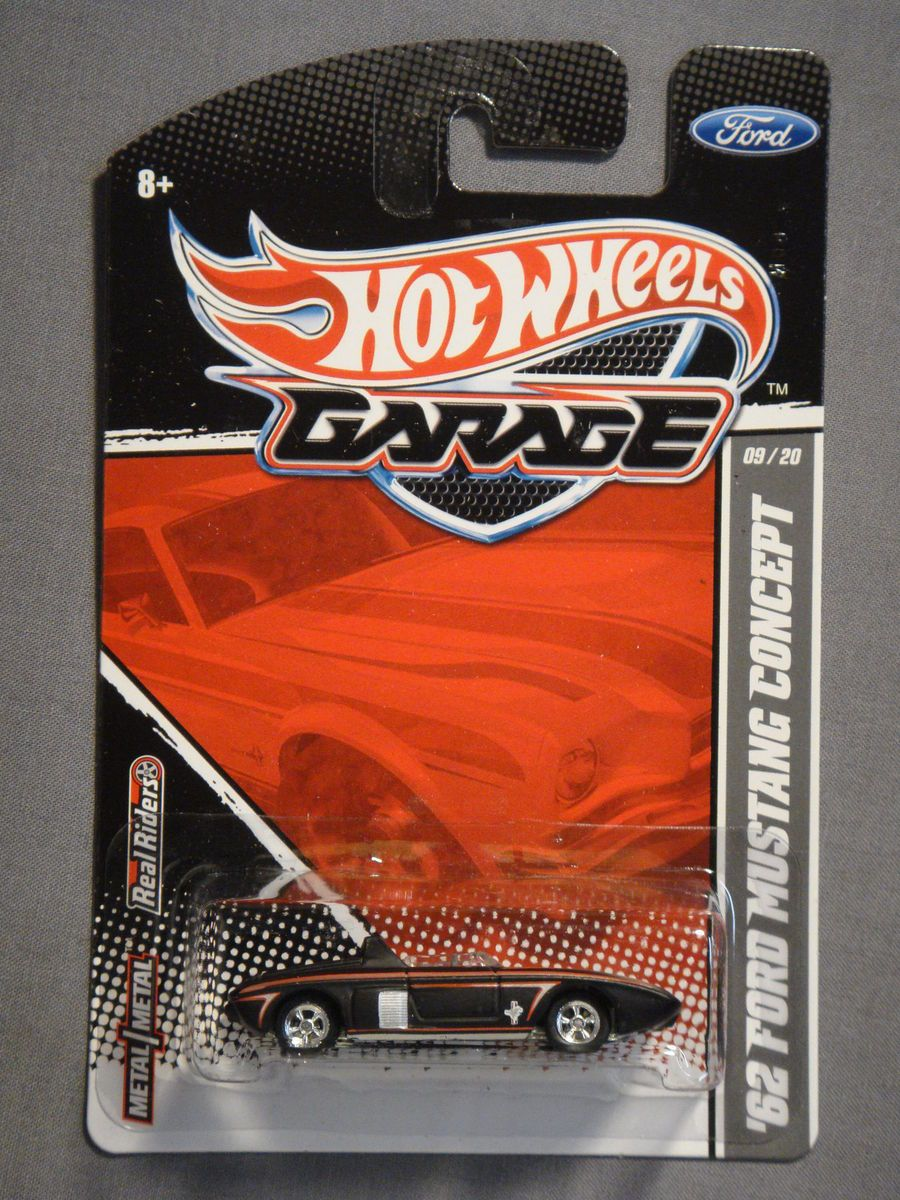Hot Wheels Garage Real Riders 62 Ford Mustang Concept 9 Diecast Car