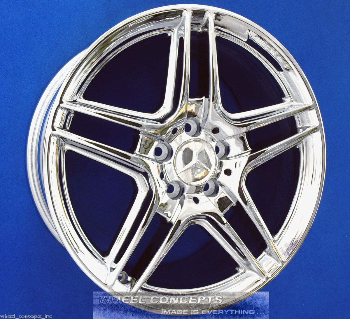 E550 Sedan 18 inch AMG Chrome Wheel Exchange E 350 550 18 Rims