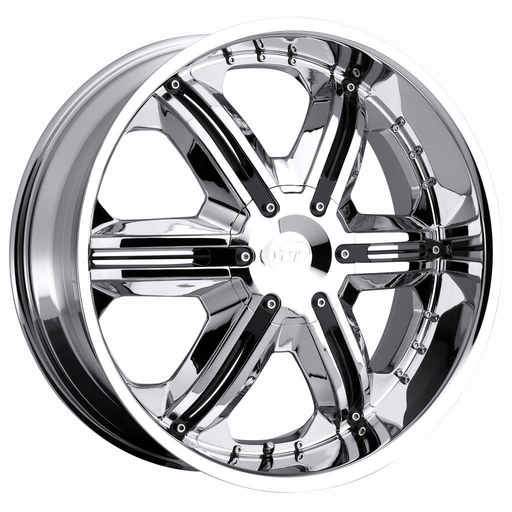 22 inch VCT Corleone Chrome Wheel Rim 6x135 F150 Expedition Navigator