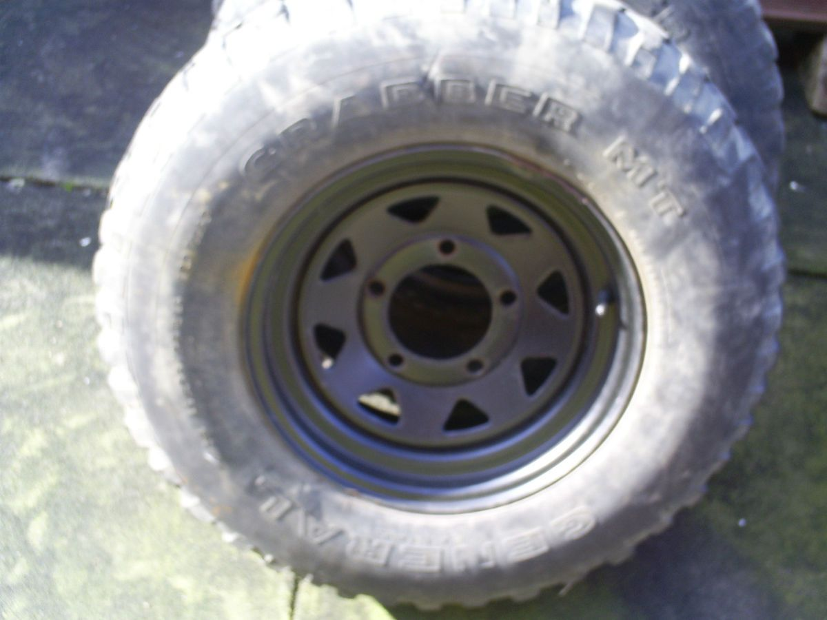Land Rover Steel Wheels with General Grabber Mts