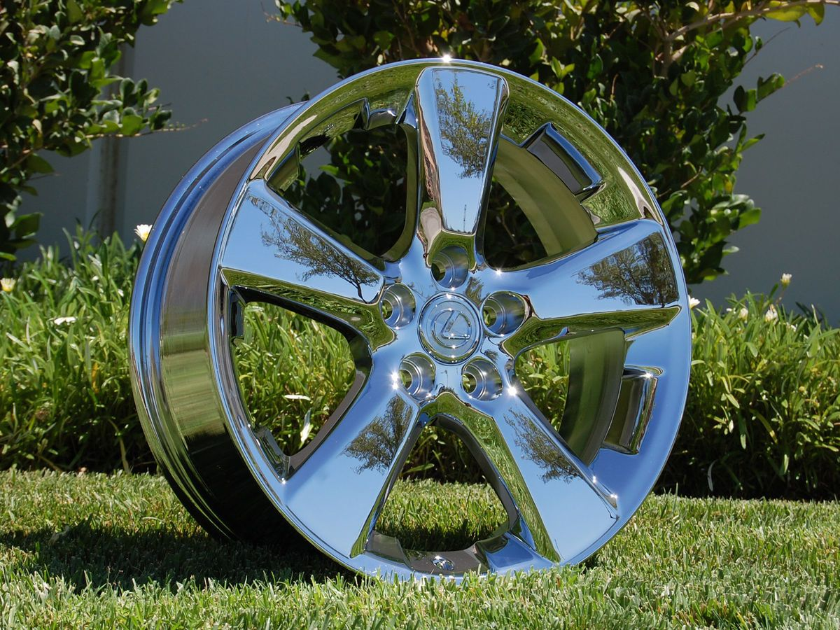 18 INCH OEM LEXUS RX330 CHROME WHEELS RIMS HOLLANDER 74171 NO EXCHANGE