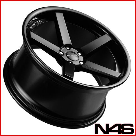 E90 328 335 Stance SC 5IVE Black Concave Staggered Wheels Rims